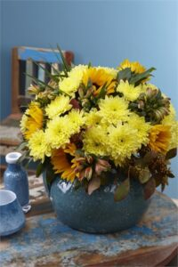 Linflowers Baltica Yellow Arrangement