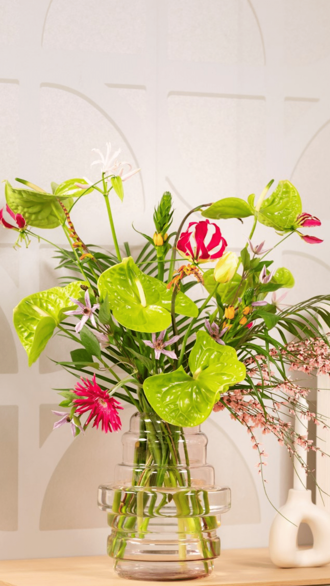 Bouquet with Anthuriums